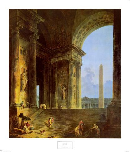 The Obelisk, 1787 Art Print