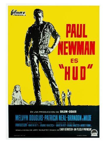 Hud, German Movie Poster, 1963 Art Print