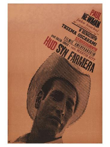 Hud, Polish Movie Poster, 1963 Impressão artística