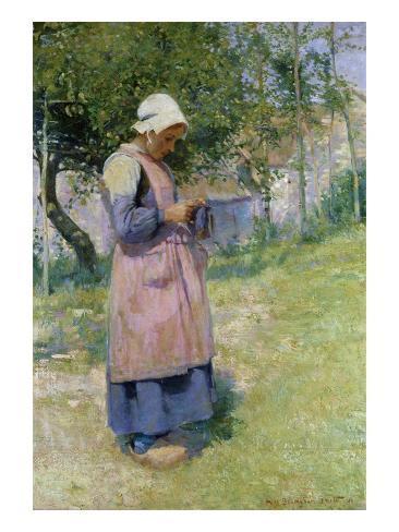A Little Breton Maid Giclee Print