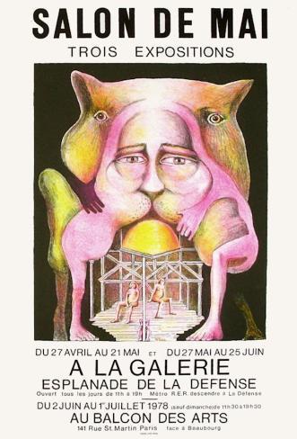 Expo 78 salon de mai collectable print by hugh weiss for Salon de mai