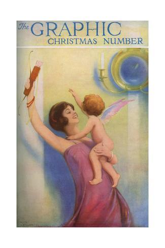 The Graphic Christmas Number 1925 Front Cover Lámina giclée