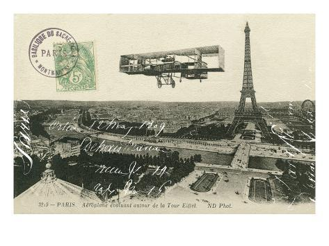 Aeroplane de Paris Art Print
