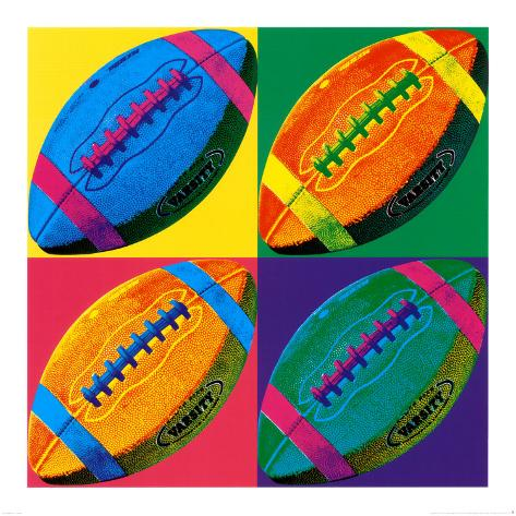 Ball Four: Football Art Print