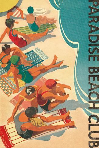 Paradise Beach Club Art Print