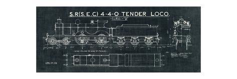 Train blueprint ii black posters by hugo wild at allposters train blueprint ii black malvernweather Choice Image