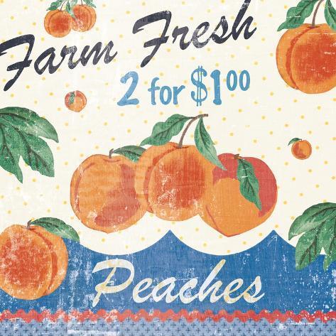 Vintage Fruit Square IV Art Print