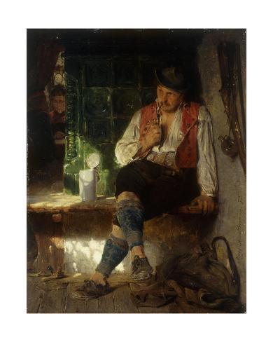 A Tavern Scene, 1875 Stretched Canvas Print