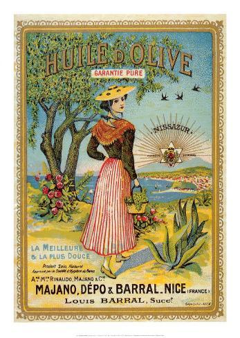 Huile Olive Art Print