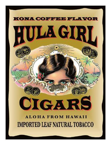 Hula Girl Cigars, Hawaii Giclee Print
