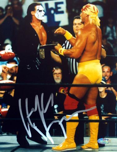 Hulk Hogan Autographed Vs. Sting Photograph Photo