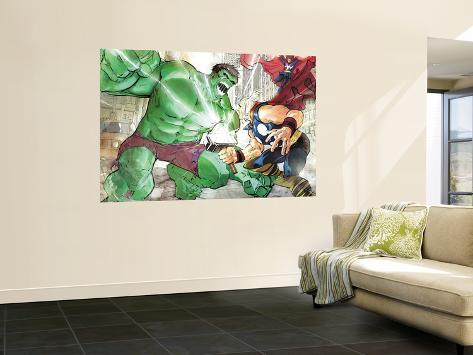 Hulk Vs. Hercules: When Titans Collide No.1 Cover: Hulk and Hercules Giant Art Print