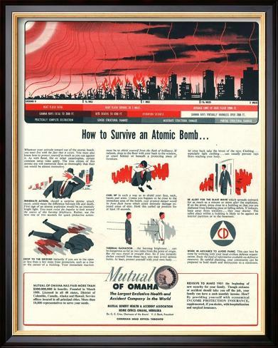 Humour Nuclear Atomic Bombs, USA, 1951 Framed Art Print
