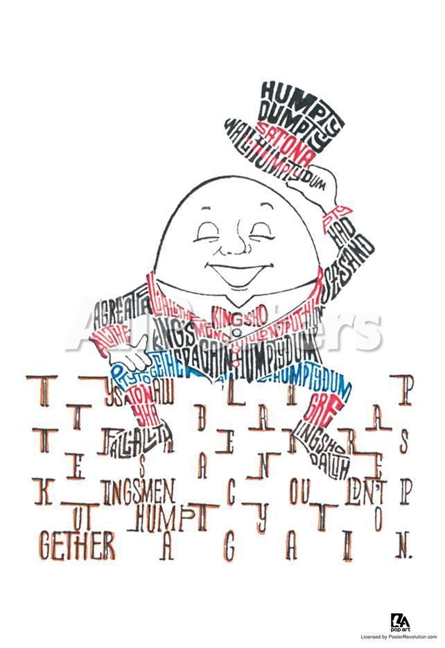 Humpty Dumpty Text Poster Prints At Allposters
