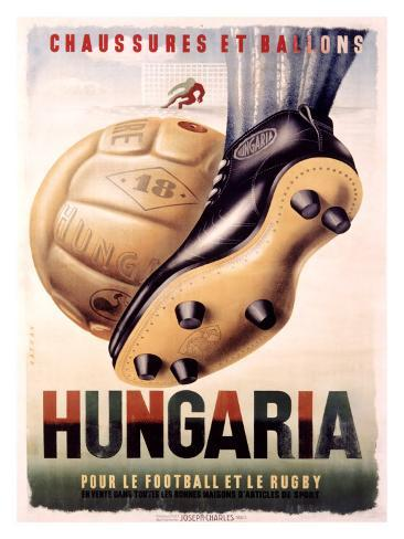 Hungaria Soccer Shoes Giclee Print