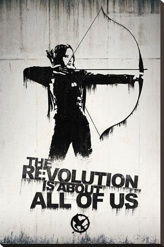 Hunger Games- Graffiti Stretched Canvas Print