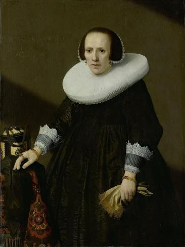 Portrait of Geertruyd Reael, Wife of Philips Denijs Art Print