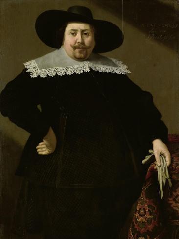 Portrait of the Amsterdam Brewer Philips Denijs Art Print