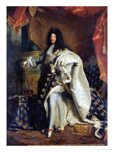 Louis XIV (1638-1715) in Royal Costume, 1701 Giclee Print