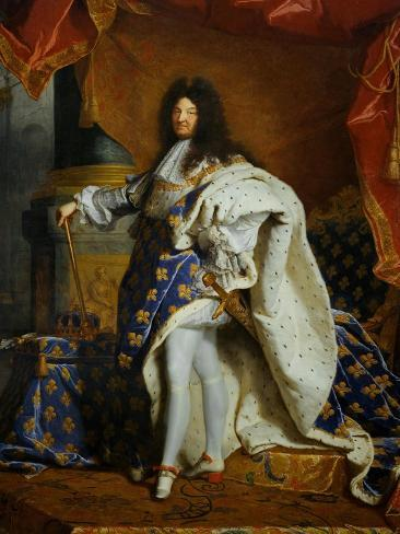 Louis XIV King of France (1638-1715) in Royal Costume 1701 & Louis XIV King of France (1638-1715) in Royal Costume 1701 Giclee ...