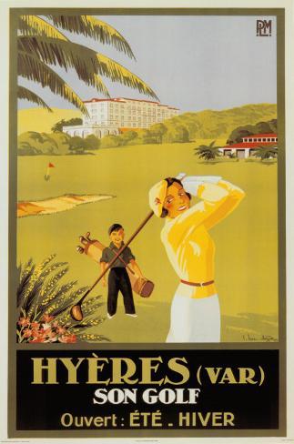 Hyeres Son Golf Poster
