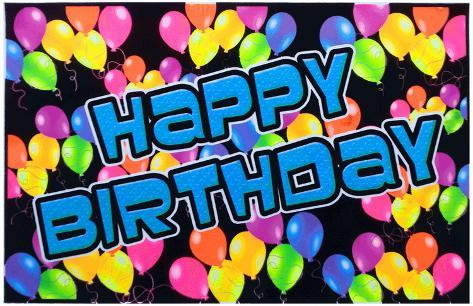 Hyvää syntymäpäivää Mustavalojuliste