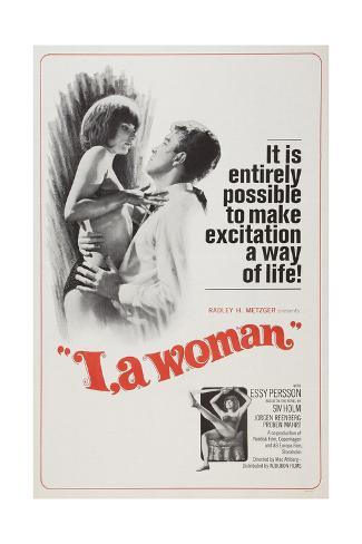 I, A WOMAN, (aka JAG-EN KVINNA), left: Essy Persson on poster art, 1965. Stretched Canvas Print