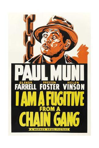 I Am a Fugitive from a Chain Gang, 1932 Gicléetryck