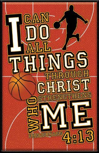 I Can Do All Things Basketball Plaque