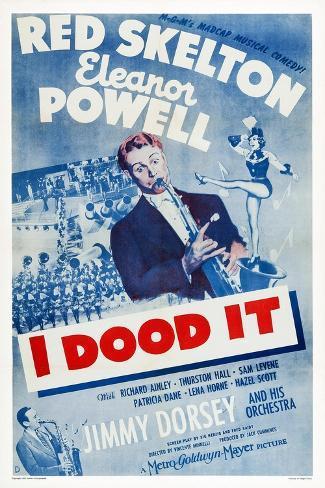 I Dood It, Jimmy Dorsey, Red Skelton, Eleanor Powell, 1943 Art Print