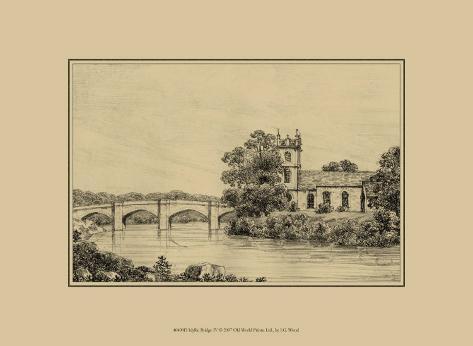 Idyllic Bridge IV Art Print