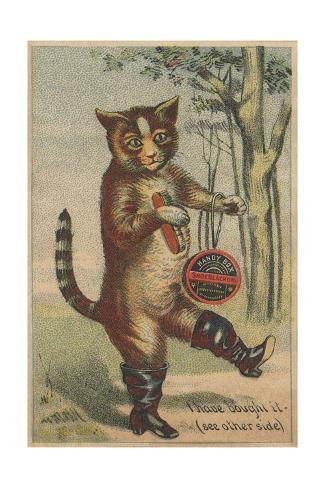 I Have Bought it Handy Box Shoe Blacking Trade Card Giclee Print
