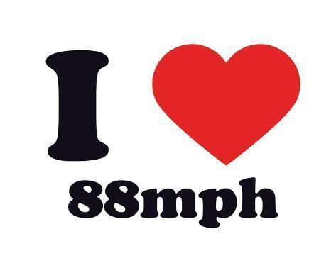 I Heart 88mph Giclee Print