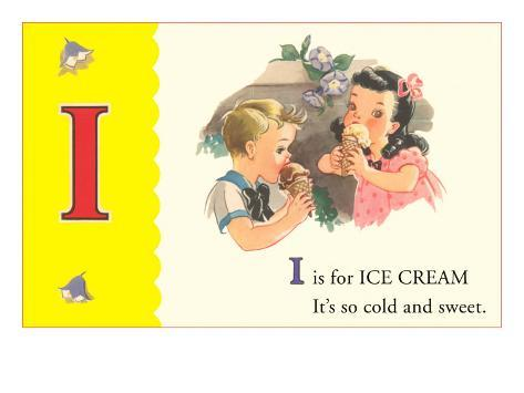 I is for Ice Cream Art Print