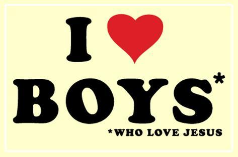 I Love Boys Poster