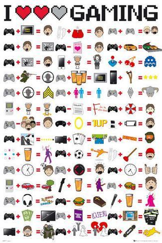I Love Gaming Video Game Poster