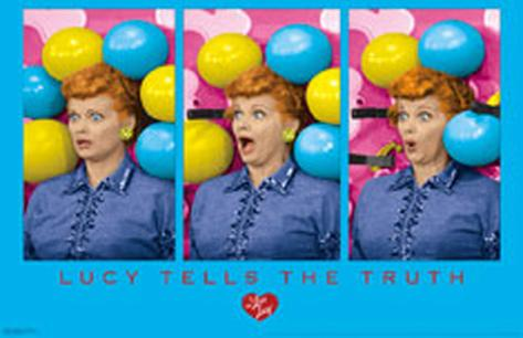 I Love Lucy - Lucy Tells the Truth Masterprint