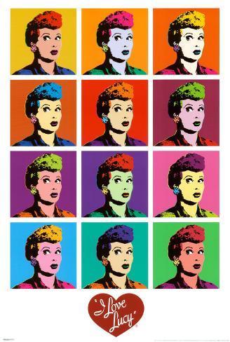 I Love Lucy - Pop Art Poster