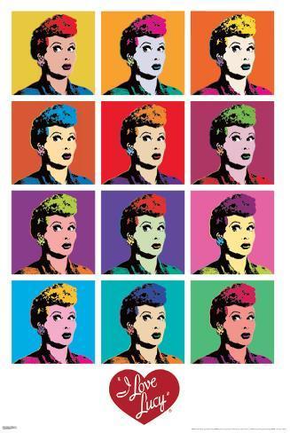 I Love Lucy - Pop Art Mini Poster