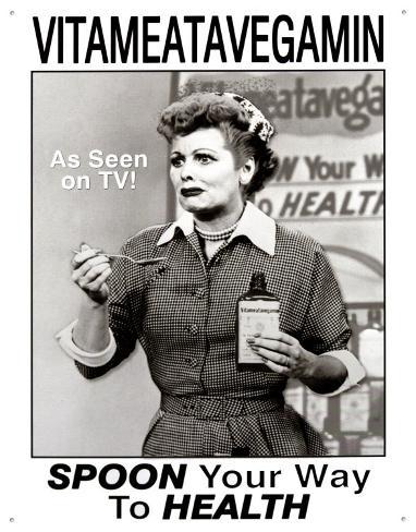 I Love Lucy Vitameatavegamin Tin Sign