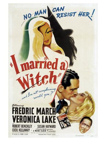 I Married a Witch, 1942 Art Print