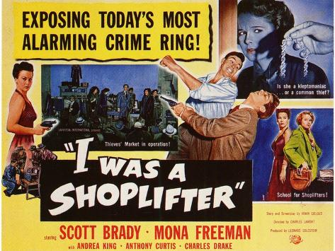 I Was a Shoplifter, 1950 Art Print
