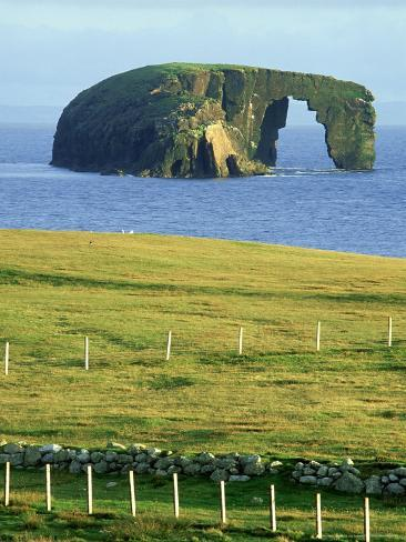 Dore Holm Natural Arch Shetland Islands Scotland