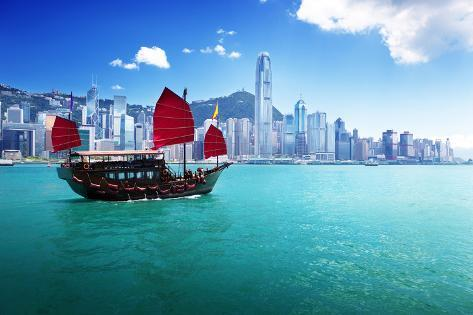 Hong Kong Harbour Photographic Print