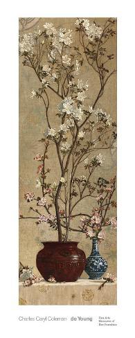 Azaleas and Apple Blossoms, c.1879 Art Print