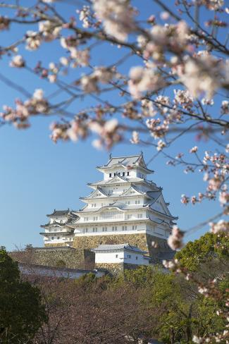 Himeji Castle (Unesco World Heritage Site), Himeji, Kansai, Honshu, Japan Valokuvavedos