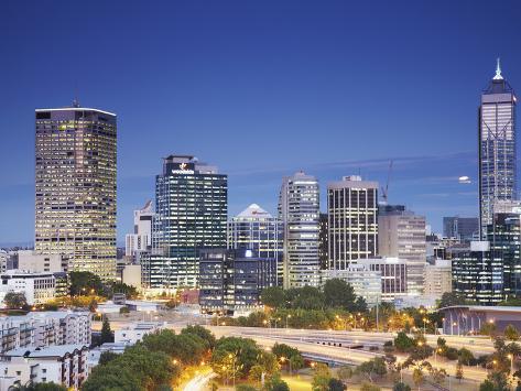 View of City Skyline, Perth, Western Australia, Australia Photographic Print