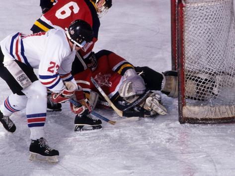 Ice Hockey Game Action Photographic Print