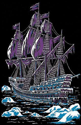 Ice Ship Blacklight Poster