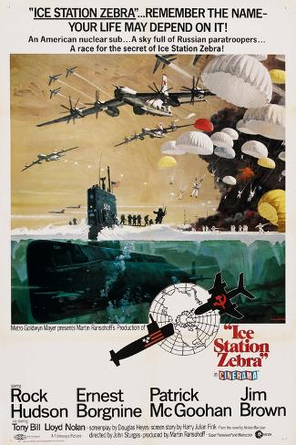 ICE STATION ZEBRA, US poster, 1968 Premium Giclee Print